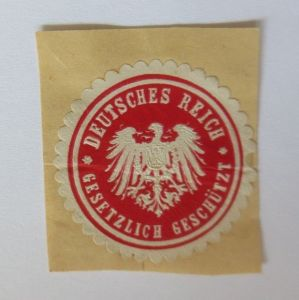 Vignette Gesetzlich Geschützt Deutsches Reich  ♥ (23779)