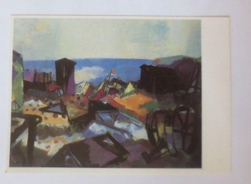 DDR Privat Ganzsache X Kunstausstellung, Rainer Zille, Bodden ♥ (32086)