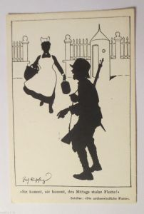 Pfingsten, Holzkarte, Maiglöckchen, Schmetterling, 1900 ♥ (30252)