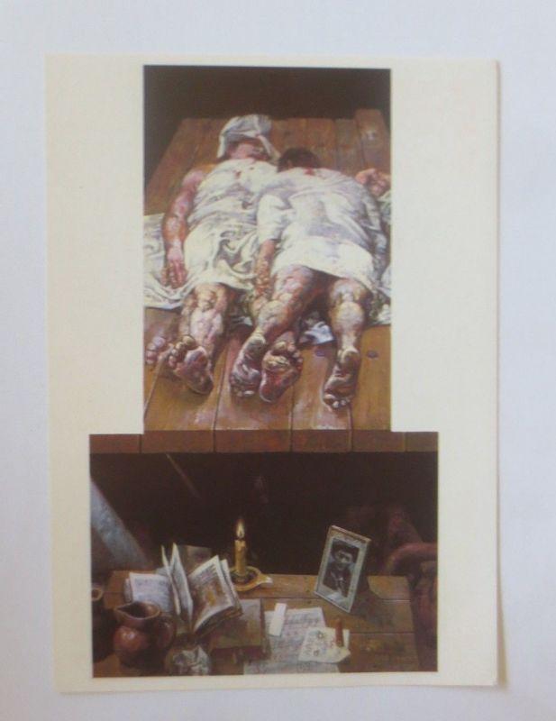 DDR Privat Ganzsache X Kunstausstellung, Willi Sitte ♥ (50737)