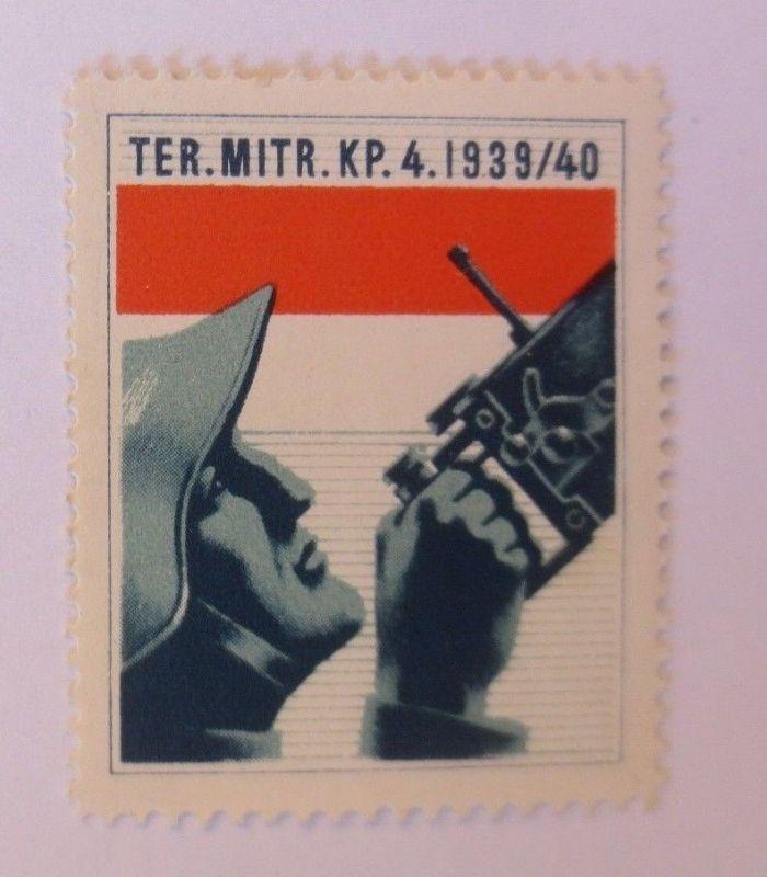 Schweiz, Militär Soldatenmarke Ter. Mitr. KP. 4,       1939/40 ♥  (58371)