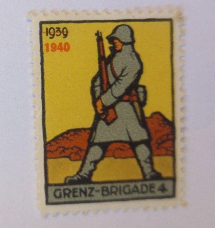 Schweiz, Militär Soldatenmarke Grenz-Brigade 4,       1940 ♥  (6640)
