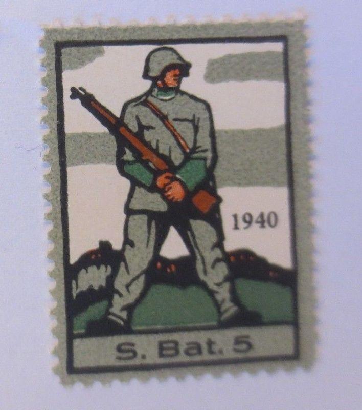 Schweiz, Militär Soldatenmarke S.Bat. 5,       1940 ♥  (44114)