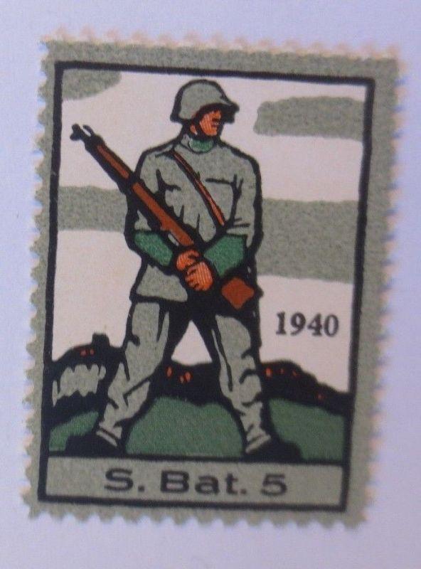 Schweiz, Militär Soldatenmarke S.Bat. 5,       1940 ♥  (45897)