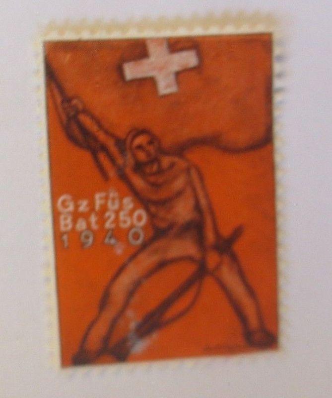 Schweiz, Militär Soldatenmarke Gz  Füs Bat 250,      1940 ♥  (60936)