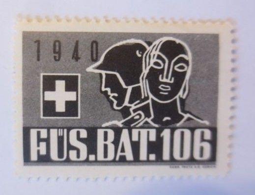 Schweiz, Militär Soldatenmarke Fus. Bat. 106,       1940 ♥  (22367)