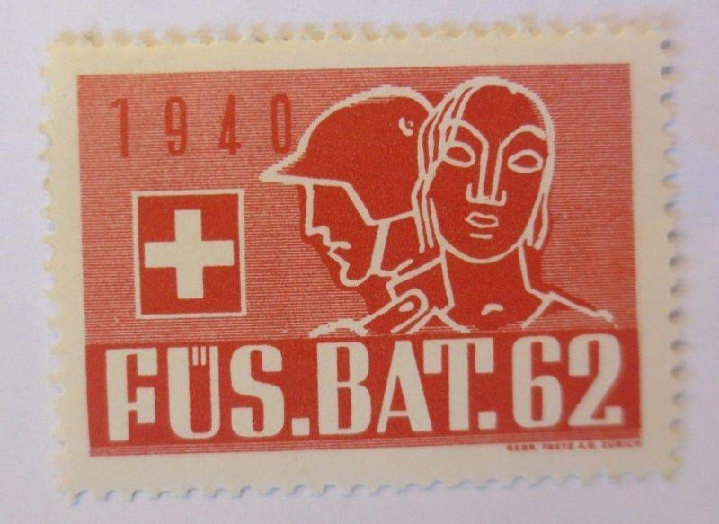 Schweiz, Militär Soldatenmarke Fus. Bat. 62       1940 ♥  (62015)