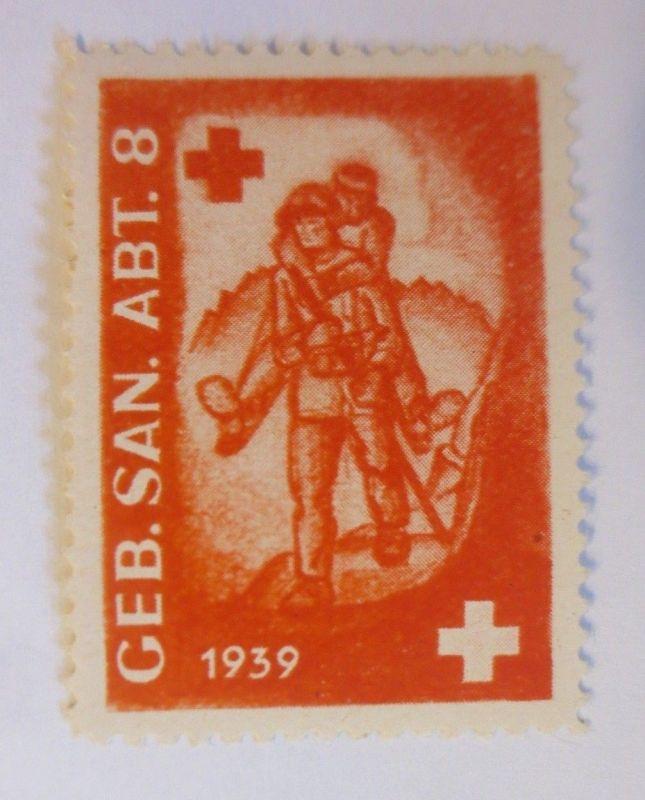 Schweiz, Militär Soldatenmarke Geb.  San. Abt. 8       1939 ♥  (28056)
