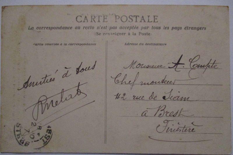 Frankreich St.Nazaire Fetes de Inauguration 1907 Depart du ballon (27396) 1