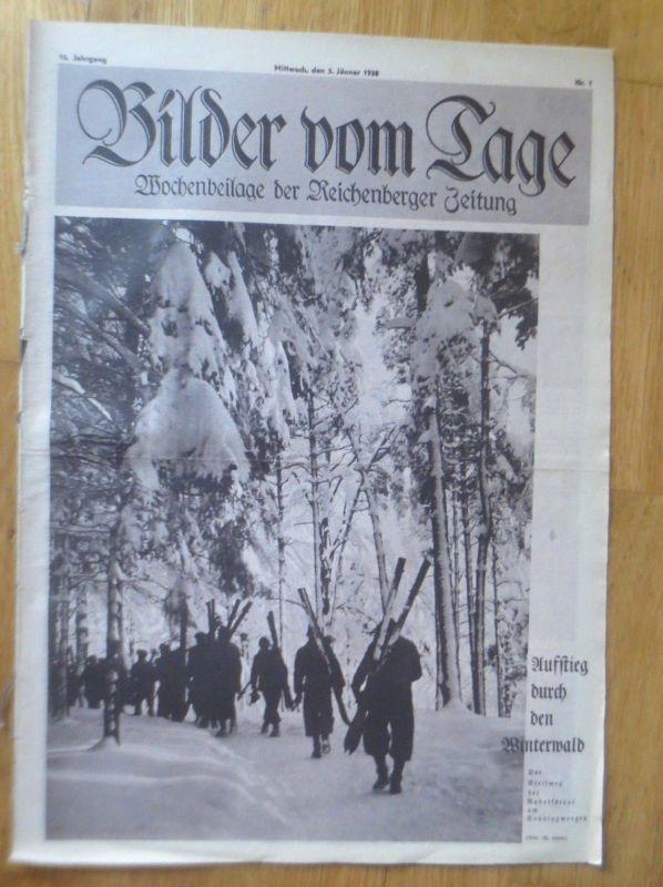 Bilder vom Tage, Wochenbeilage der Reichenberger Zeitung 1936, Nr.1 ♥
