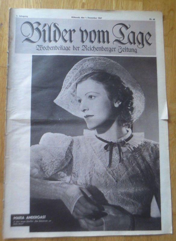 Bilder vom Tage, Wochenbeilage der Reichenberger Zeitung 1937, Nr.46 ♥