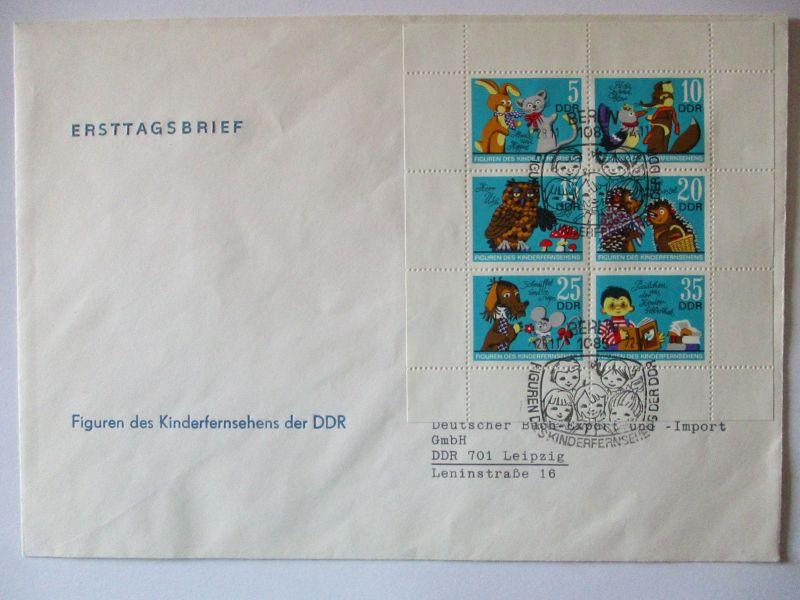 DDR 1807-1812 Kinderfernsehen Kleinbogen FDC 1972