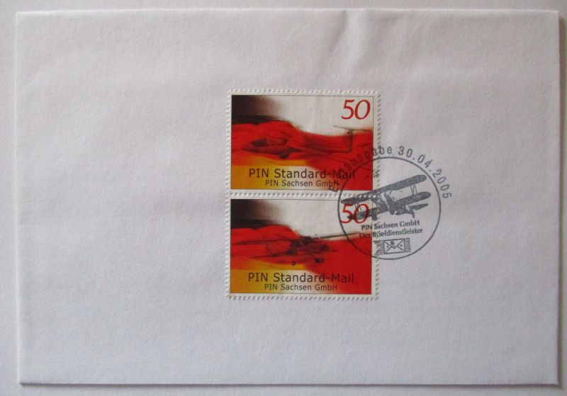 Privatpost Pin Sachsen Mail, Brief 2005 (26630)