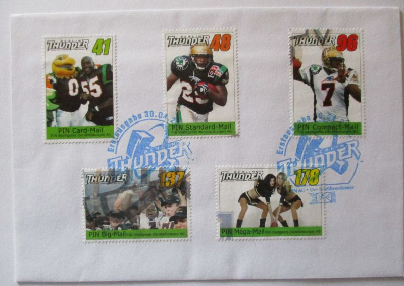 Privatpost PIN MAIL, American Football, Berlin Thunder, World Bowl 2005 (57350)
