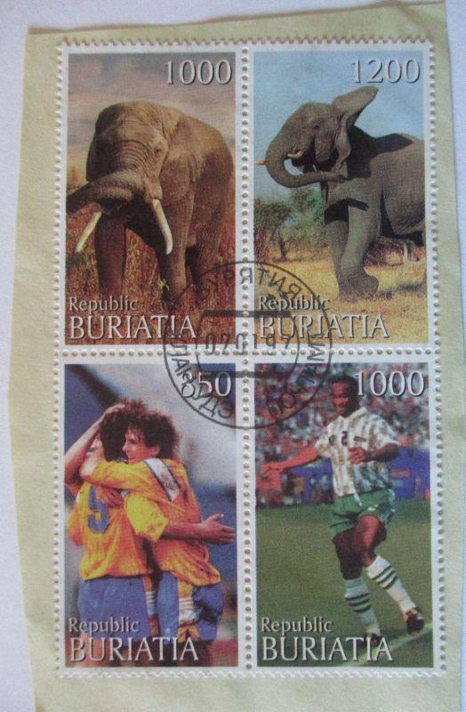 Buriatia, Viererblock 1997 gestempelt (30385)