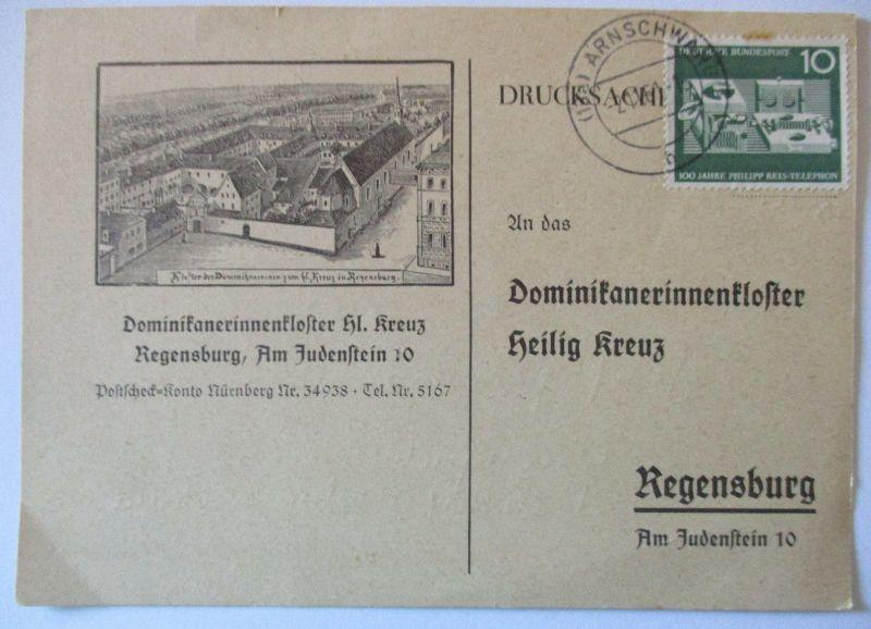 Religion Dominikaner Kloster Regensburg 1961 (7912)