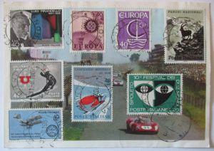San Marino, gut frankierte Luftpost Eilboten R-Karte 1967 (30054)