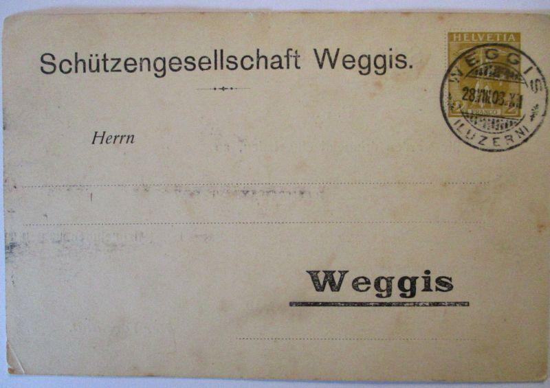 Schweiz Privatganzsache Schützengesellschaft Weggis 1908 (30706)