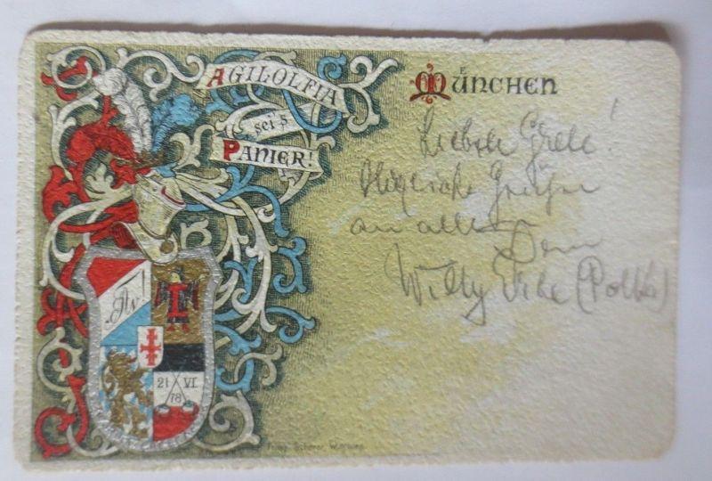 Studentika, München, Agilolfia sei´s Panier, 1901  ♥  (26667)