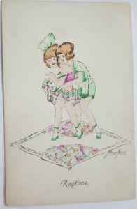 Künstlerkarte, Kinder Tanz Ragtime, sign. Kurt Maison (21218)