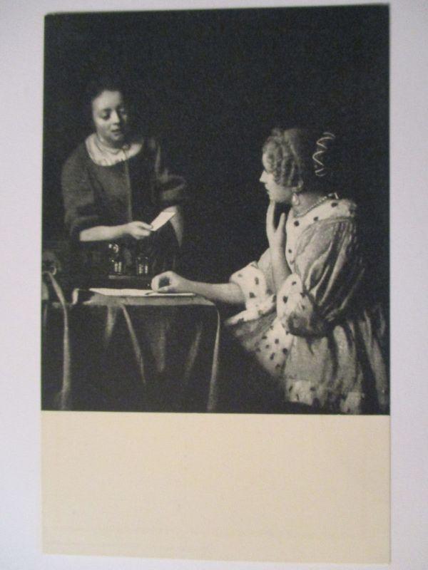 Künstlerkarte Jan Vermeer, Der Brief, ca. 1920 (37660)
