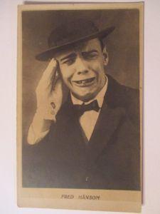 Circus, Varietrè, Clown, Fred Hansom, Fotokarte (21196)