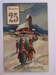 Neujahr, Zwerge, Äpfel, Rehe, Mond, 1929  ♥ (7971)