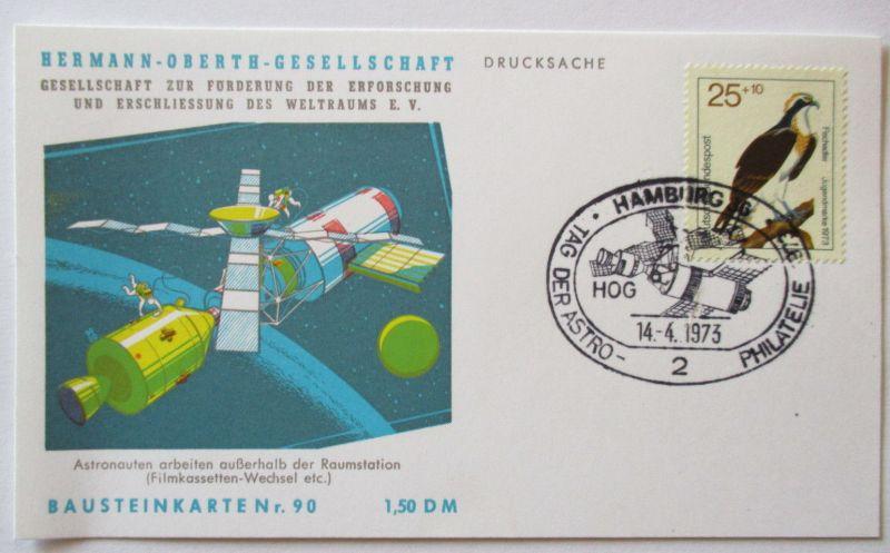Raumfahrt, Hermann Oberth Gesellschaft, Bausteinkarte 90 (49481)