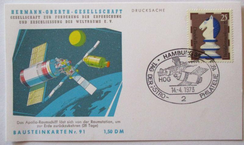 Raumfahrt, Hermann Oberth Gesellschaft, Bausteinkarte 91 (50514)