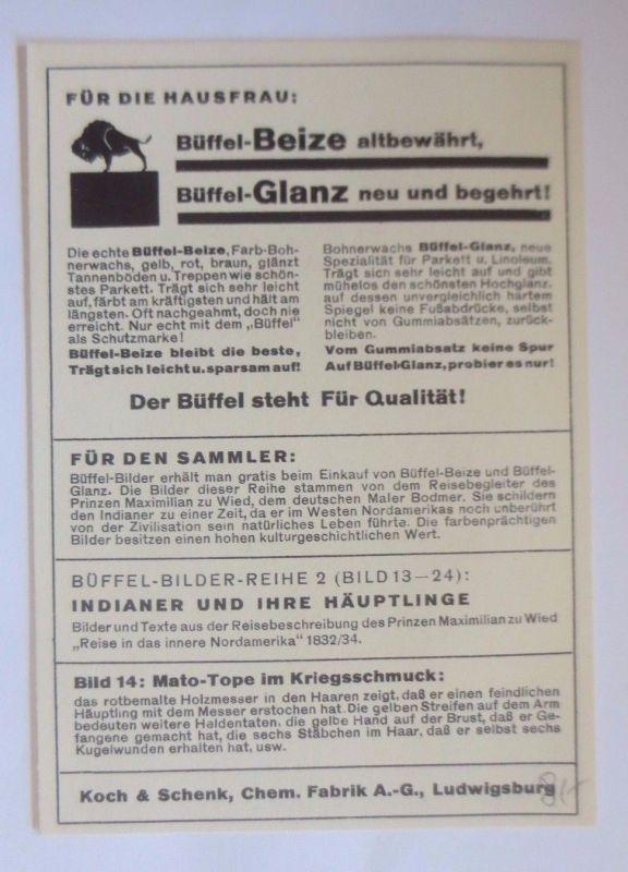 Werbung Reklame Büffel Glanz Büffel Beize Für Die Hausfrau