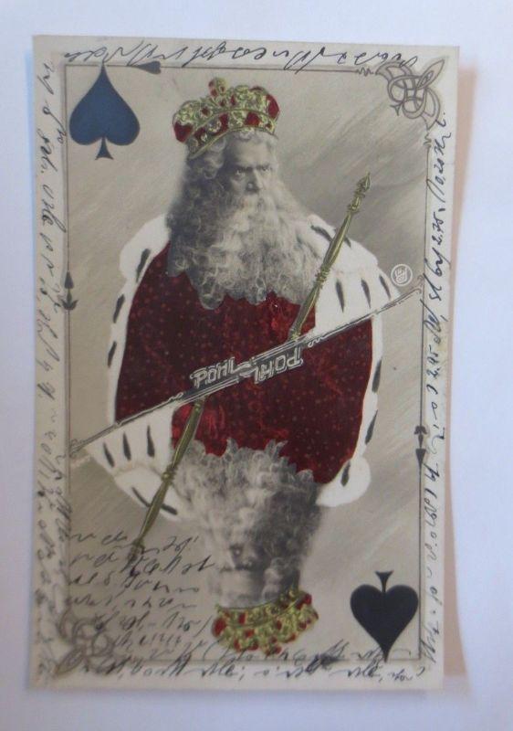 Schauspieler, Theater, Kartenspiel, König, Pik, Max Pohl,  1905 ♥ (66867)