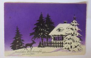 Neujahr, Winterlandschaft, Rehe   1926    ♥ (53562)