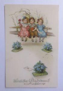Ostern, Kinder, Mode, Bank, Brief,     1915 ♥  (62592)