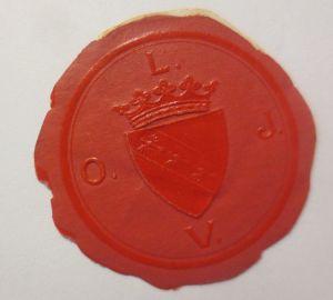 Vignetten, Verschlußmarken, Siegel mit Wappen ♥ (22622)