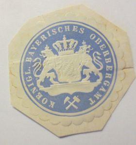 Vignetten, Verschlußmarken, Königl. Bayerisches Oberbergamt ♥ (69428)