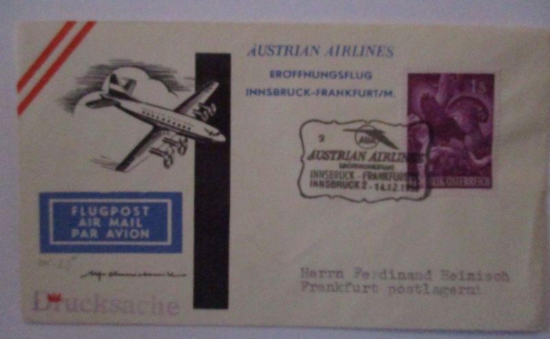 Österreich Eröffnungsflug Innsbruck Frankfurt 1959 (272)
