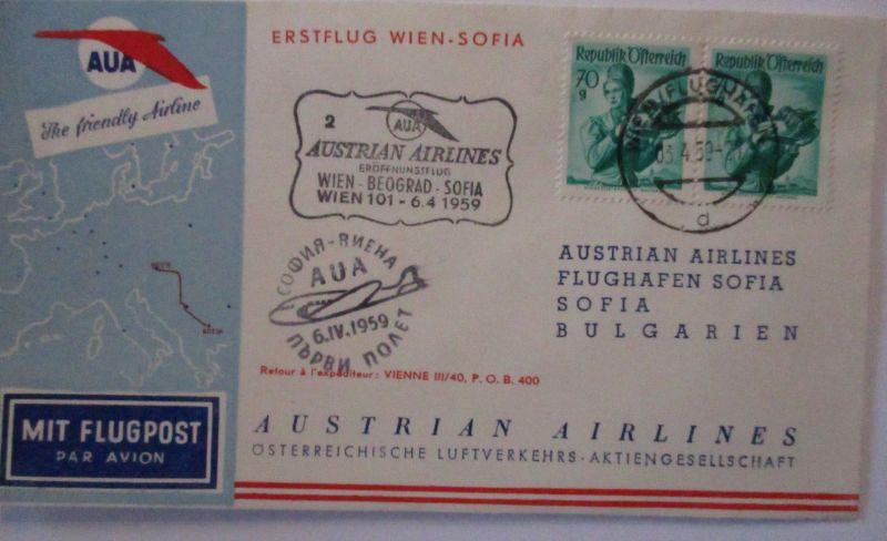 Österreich AUA Erstflug Wien-Sofia 1959 (39484)