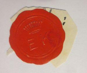 Vignetten, Verschlußmarken, Siegel,  E K ♥ (67037)