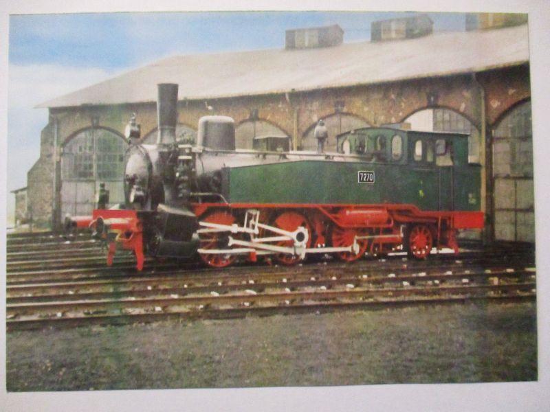 Eisenbahn, Staatsbahn Preußen,Güterzug Lokomotive, Opitz Privatganzsache (17901)