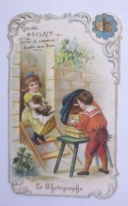 Kaufmannsbilder, Oblaten,  Chocolat Poulain, Kinder, Foto, 1900 ♥ (61885)
