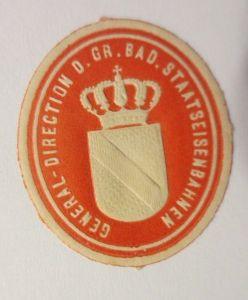 Vignetten, Verschlußmarken, General Direction Staatseisenbahnen ♥ (23457)