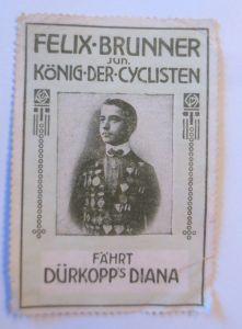 Vignetten, Felix-Brunner König der -Cyclisten fährt Dürkopp´s Diana,1914♥(67097)