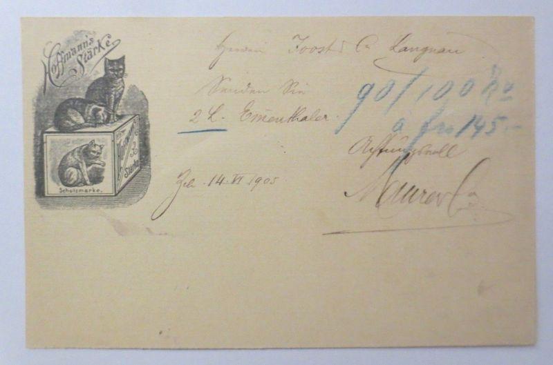 Hoffmann´s Stärke, Privat-Ganzsache 1905, Langenthal- Reinach (Aargau)♥ (69674)