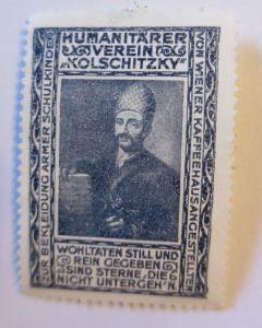 Vignetten, Humanitärer Verein Kolschitzky, Wien Kaffeehaus 1914 ♥ (41170)