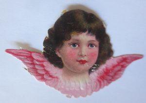 Oblaten, Engel,   1900      8,5 cm x 5 cm   ♥   (48638)