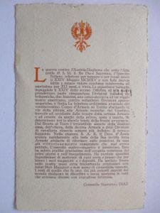 Erinnerung an das Kriegsende, Sonderkarte 1923 (22810)