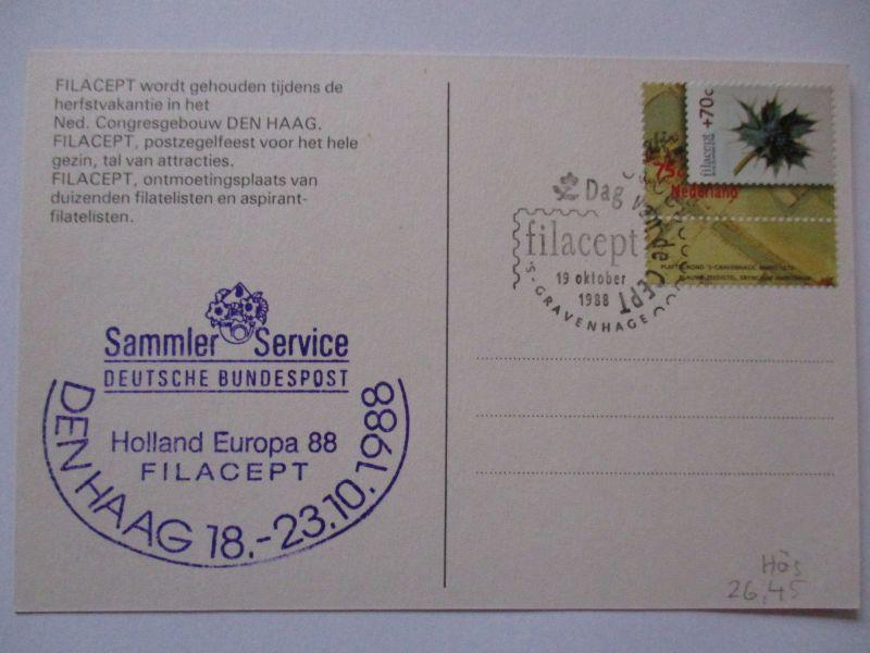 Bund, Sammlerservice Cachet Den Haag 1988  (37341)