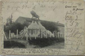 Gruss aus St. Privat, Denkmal 3. Garde Regiment, ca. 1905 (3366)