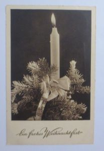Weihnachten, Kerze, Tannenzweig,       1937 ♥ (3827)