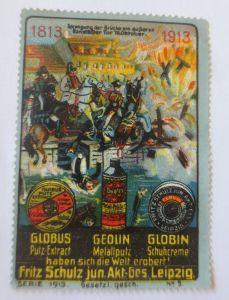 Vignetten, Globus, Geolin, Globin Putzmittel Fritz Schulz Leipzig 1913 ♥(68360)